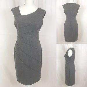 LONDON TIME Gray Sheath Sleeveless Dress-Size 8